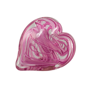 Tickled Pink Hearts of Fire Paperweight