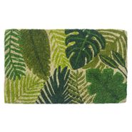 Tropical Leaves Handwoven Coconut Fiber Door Mat