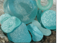 Turquoise Sea Glass Photo
