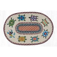 Turtles Oval Patch Braided Rug