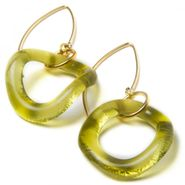 Gold Wave Boomerang Earrings