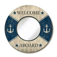 Welcome Aboard Round Mirror