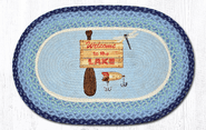 Welcome To The Lake Oval Patch Rug