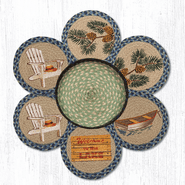 Welcome To The Lake Trivets in a Basket