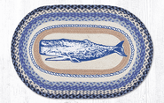 Whale Oval Patch Rug