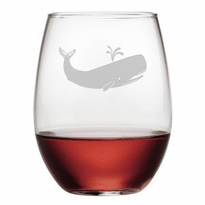 Whale Stemless Wine Glasses - S/4