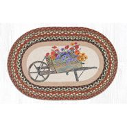 Wheelbarrow Oval Patch Braided Rug