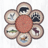Wildlife Trivets in a Basket