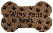 Wipe Your Paws Hand Woven Coir Doormat