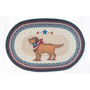 Yellow Lab Oval Patch Braided Rug