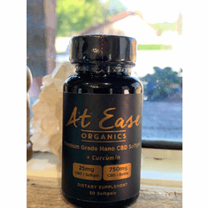 At Ease Organics CBD Softgels with Curcumin 50% Off While Supplies Last!