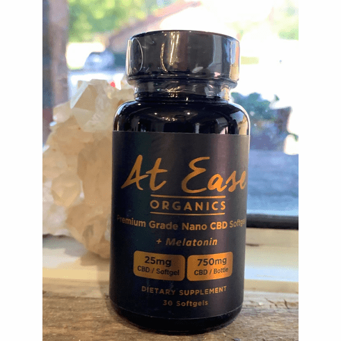 At Ease Organics CBD Softgels with Melatonin for Sleep
