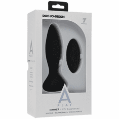 """A-play Rimmer Experienced Anal Plug with Remote Control - Black 5.75"""""""