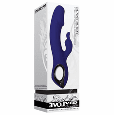 """Bunny Buddy Rechargeable Dual Vibrator With Clitoral Stimulator - Purple 7.89"""""""