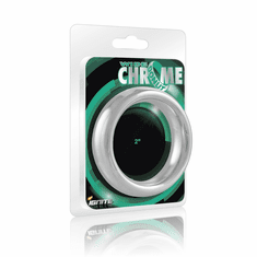 """Cock Rings - Wide Chrome Donut 2"""""""