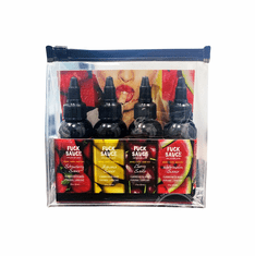 Fuck Sauce Water Based Variety 4 Pack - Flavored 2 oz