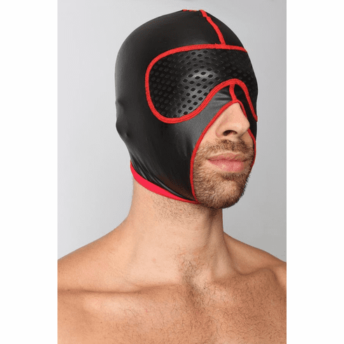 Gambit Blackout Hood - Black/Red One Size
