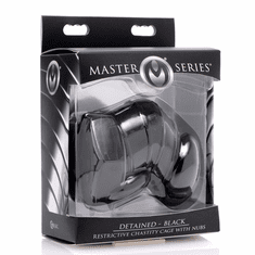 Master Series Detained Restrictive Chastity Cage - Black