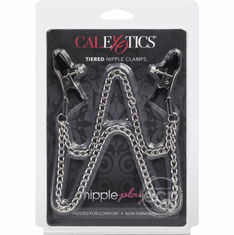 Nipple Play Tiered Nipple Clamps - Silver Pliers