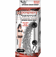 """Spiked Chain Whip - Metal 16"""""""