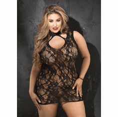 Stretch Lace Chemise - Black Queen