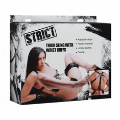 Strict Padded Thigh Sling With Wrist Cuffs - Black