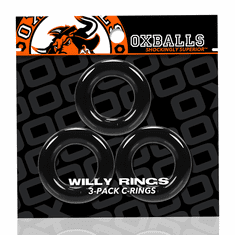 Willy Rings 3-Pack Cockrings - Black O/S