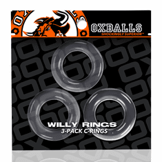 Willy Rings 3-Pack Cockrings - Clear O/S