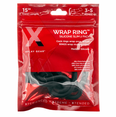 Xplay Silicone 15 Inch Thin Wrap Ring - Black