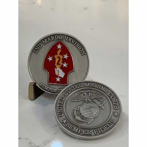 2nd Marine Division Silver Coin