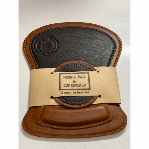 AF Leather Mouse Pad and Coaster Set