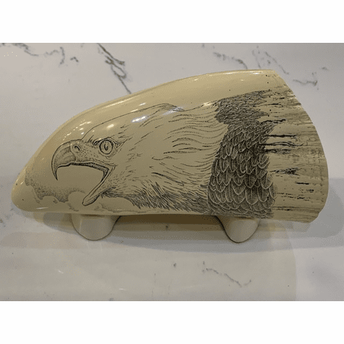 American Pride Eagle Scrimshaw with Stand