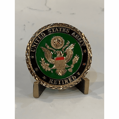 Army Retired - Served with Pride Coin