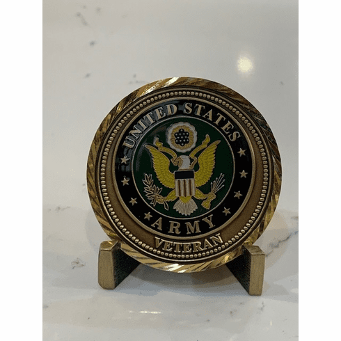 Army Veteran Coin - Service to a Grateful Nation