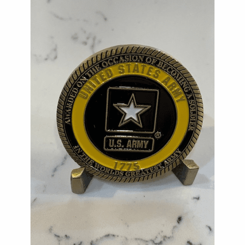 Becoming A Soldier Challenge Coin