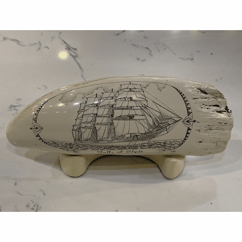 Falls of Clyde Scrimshaw with Stand