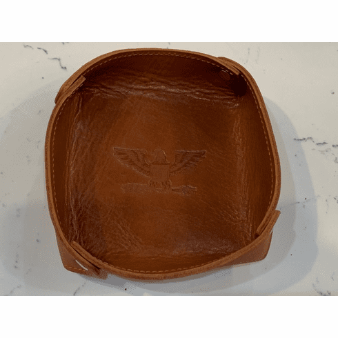 Genuine Leather Desk Tray