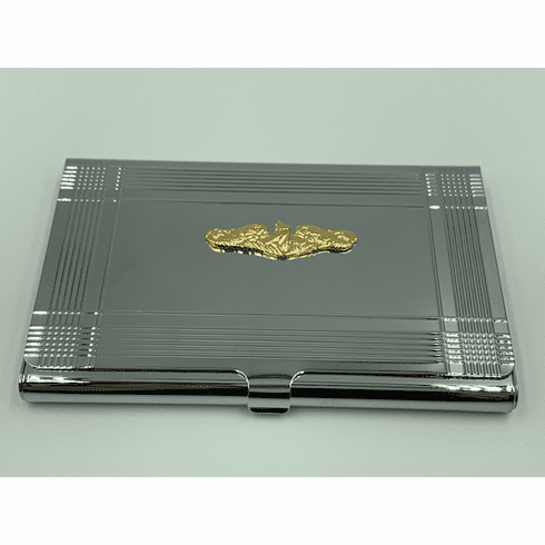 Gold Dolphins Card Case