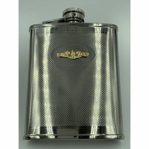 Gold Dolphins Flask