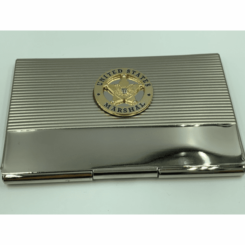 Gold US Marshal Card Case