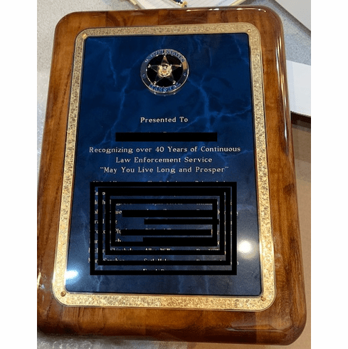 Marble Color Plaque