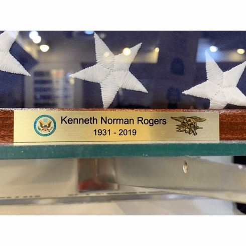 Name Plate with Rank and Insignia