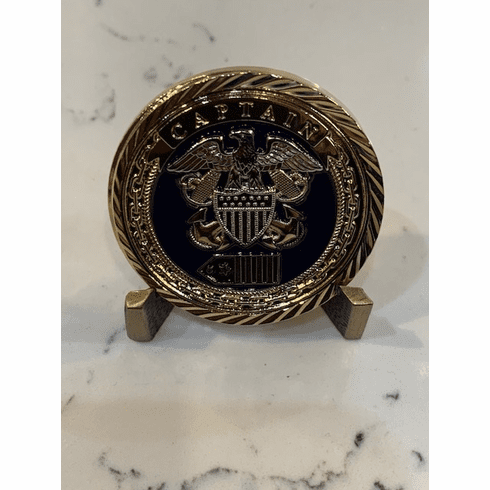 Navy Captain Challenge Coin