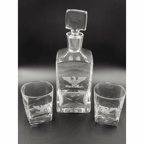 O-6 Decanter Set with 2 glasses