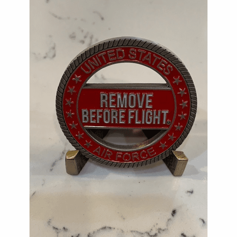 Remove Before Flight Challenge Coin
