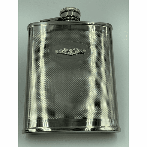 Silver Dolphins Flask