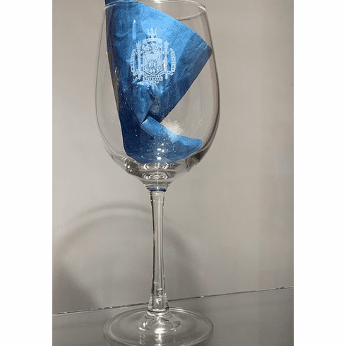 US Naval Academy Wineglass Glass