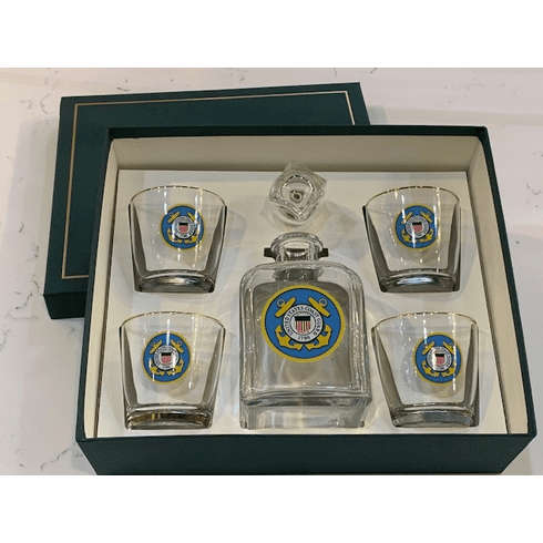 USCG Decanter Set w/Gift Box