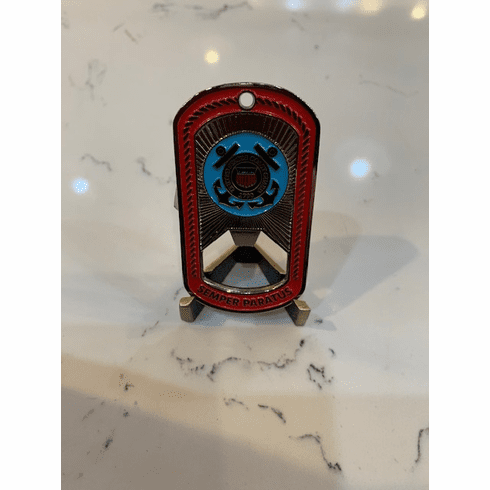 USCG Dog Tag, Bottle Opener and Keychain Coin