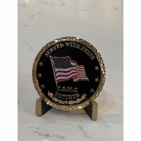 USMC Retired Coin - Served with Pride